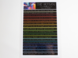 The Artisan Color Card